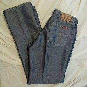Paris Blues Juniors 9 Shiny Boot Cut Blue Jeans